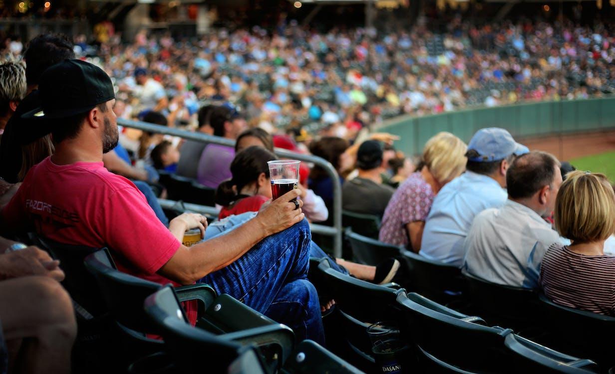 amateur de sport, assis, audience