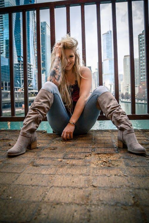 Gratis arkivbilde med blondt hår, chicago, modell, portrett