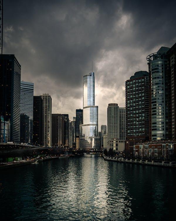 bờ sông, các tòa nhà, chicago