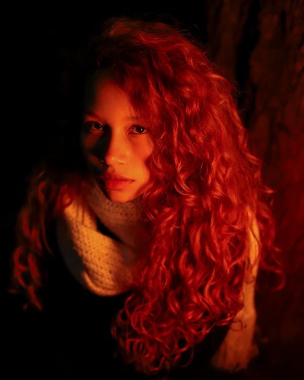 Photo of Woman With Red Hairstyle