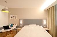 light, hotel, laptop