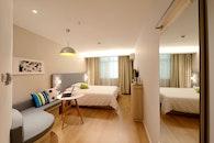hotel, bed, bedroom