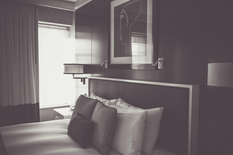 Základová fotografie zdarma na téma apartmán, architektura, černobílá, dekor