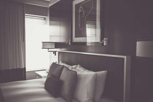 Fotobanka sbezplatnými fotkami na tému apartmán, architektúra, bytové zariadenie, čiernobiely