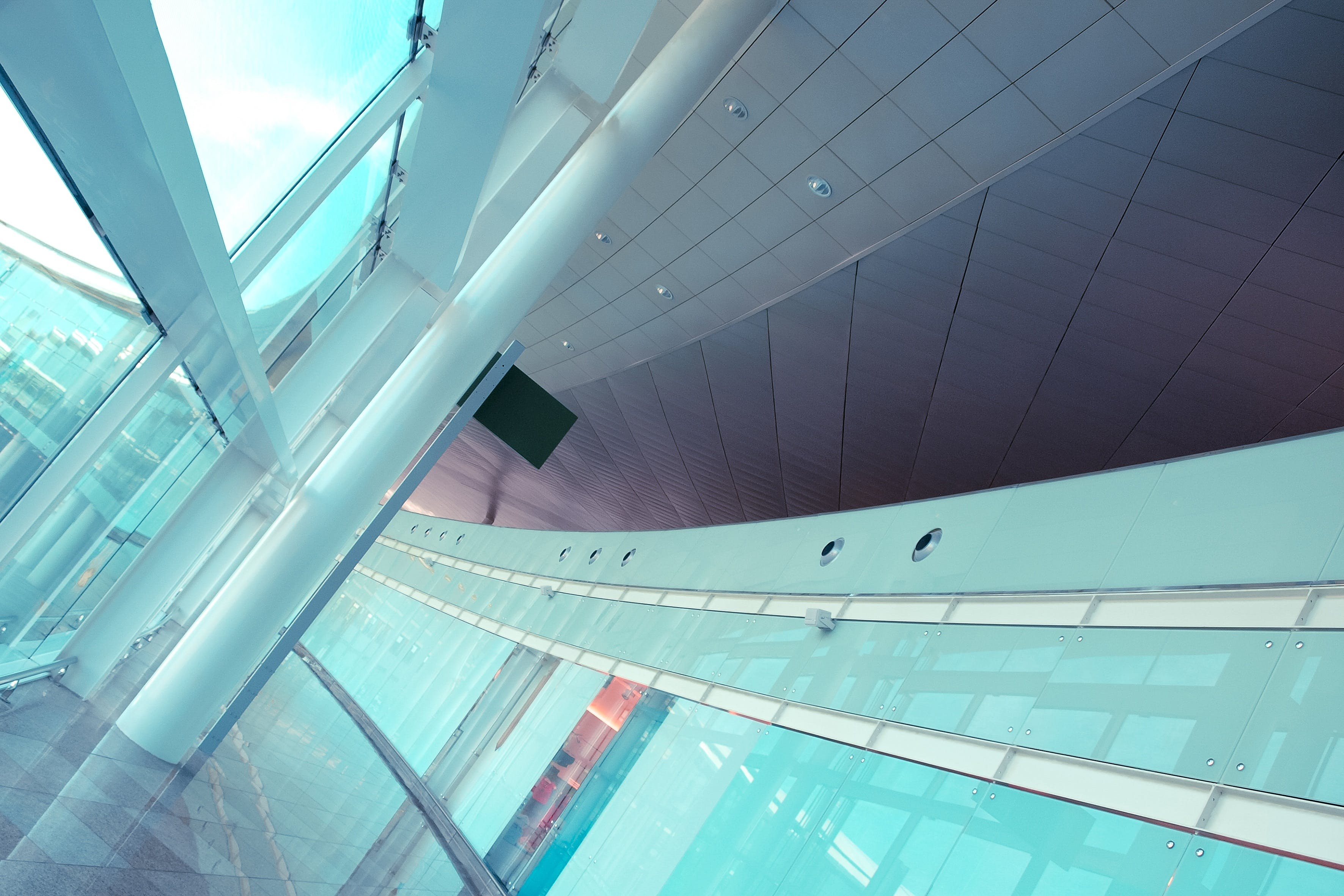 Free stock photo of building, glass, architecture, ceiling