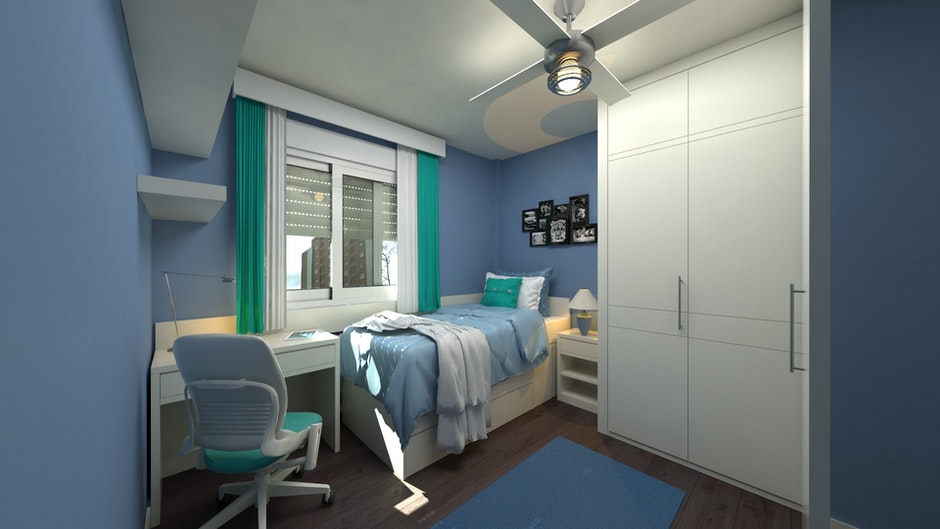 bedroom, chair, contemporary