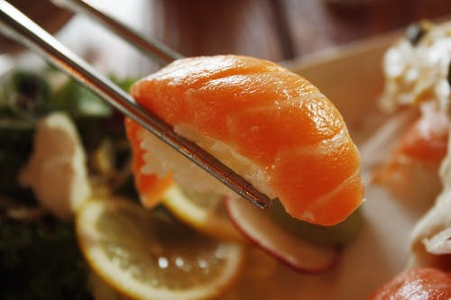 インドア, おいしい, ご飯, サーモンの無料の写真素材