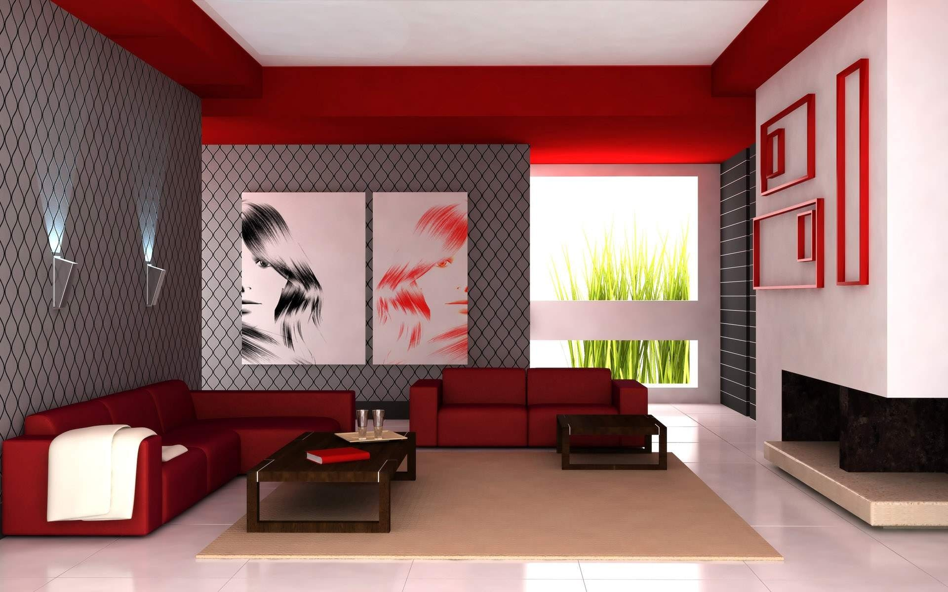 Free stock photo of red, white, apartment, modern