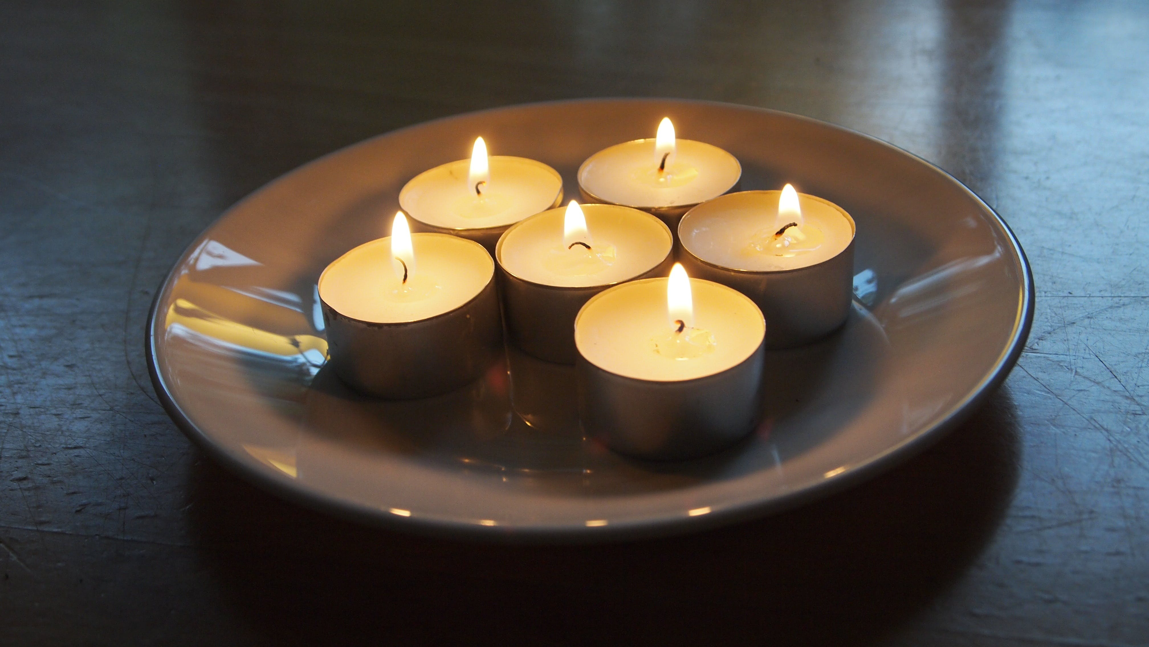 Free stock photo of table, autumn, candles, board