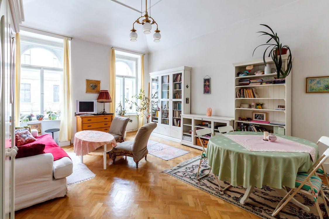 White Living Room Furniture Set