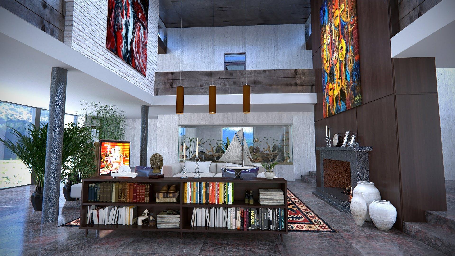 Free stock photo of apartment, design, room, interior design