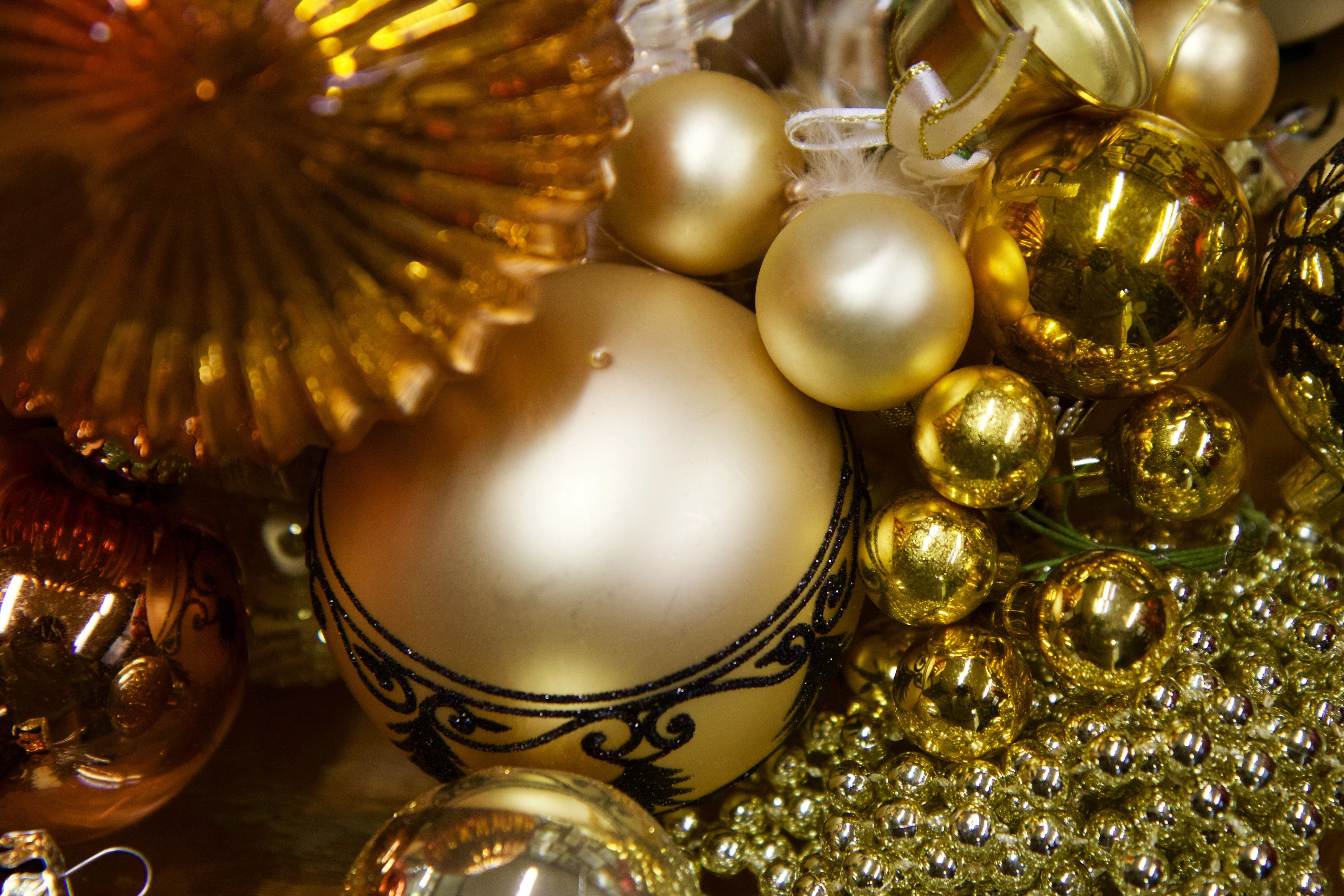Gold and Beige Bauble Lot