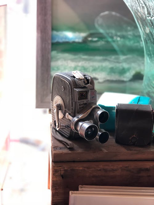 Zwarte Reflexcamera
