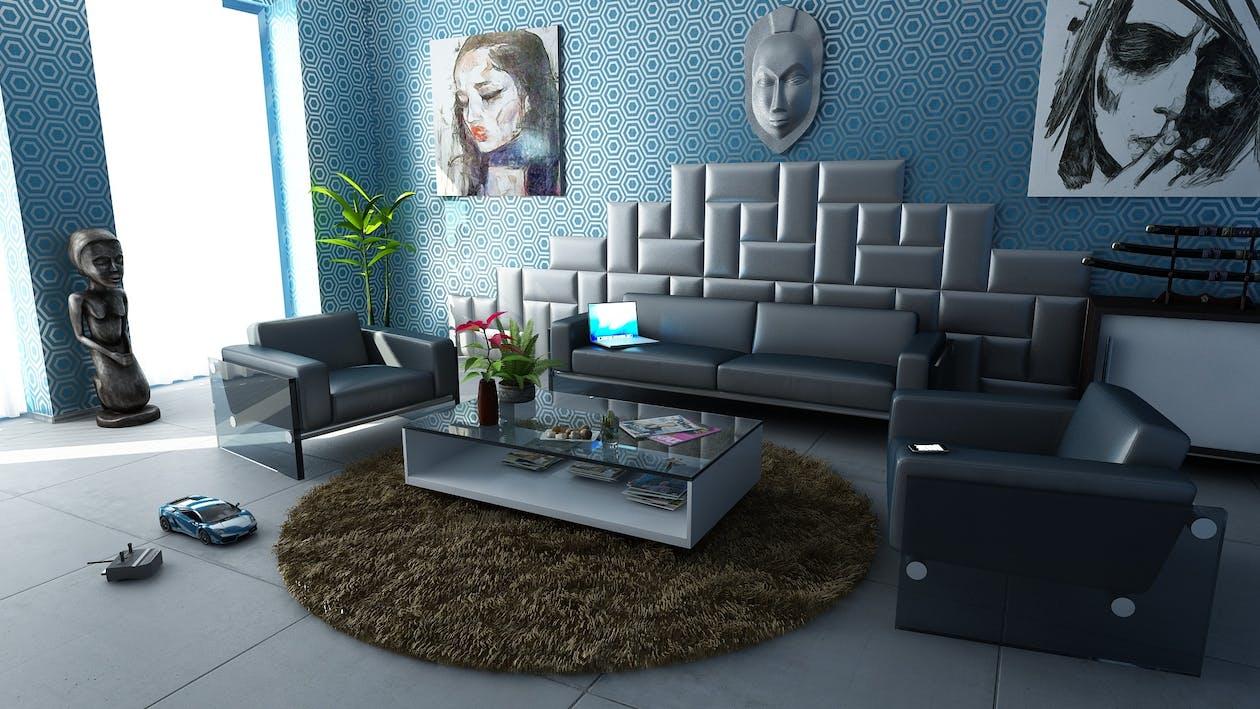 公寓, 單人沙發, 地板 的 免费素材图片