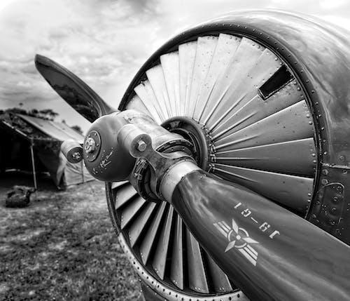 Free stock photo of airplane, aviation, mono, vintage airplane