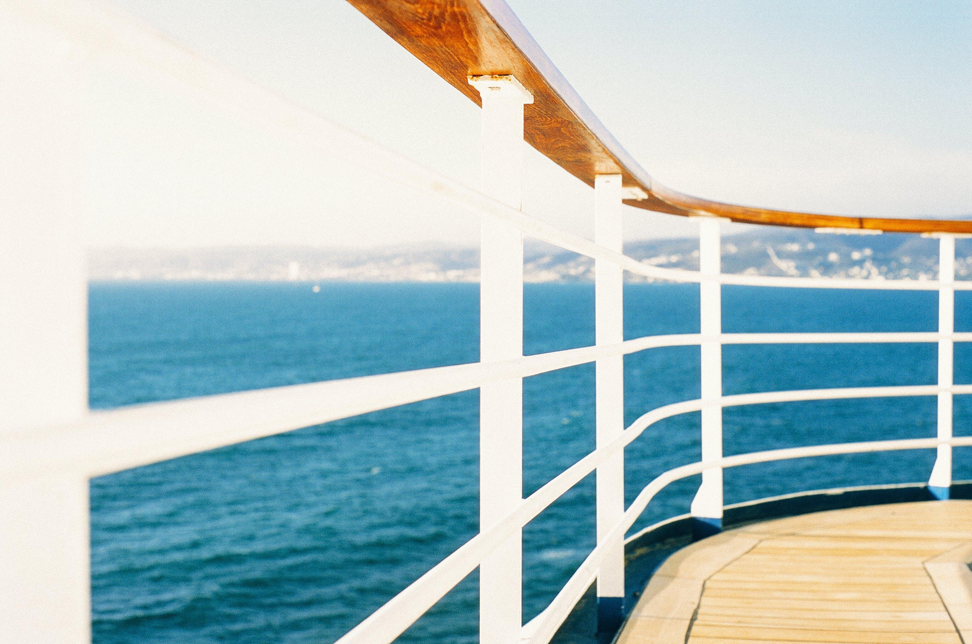 boat, ocean, railing