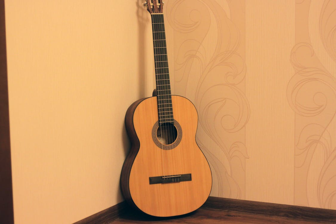 cort, guitar, gul