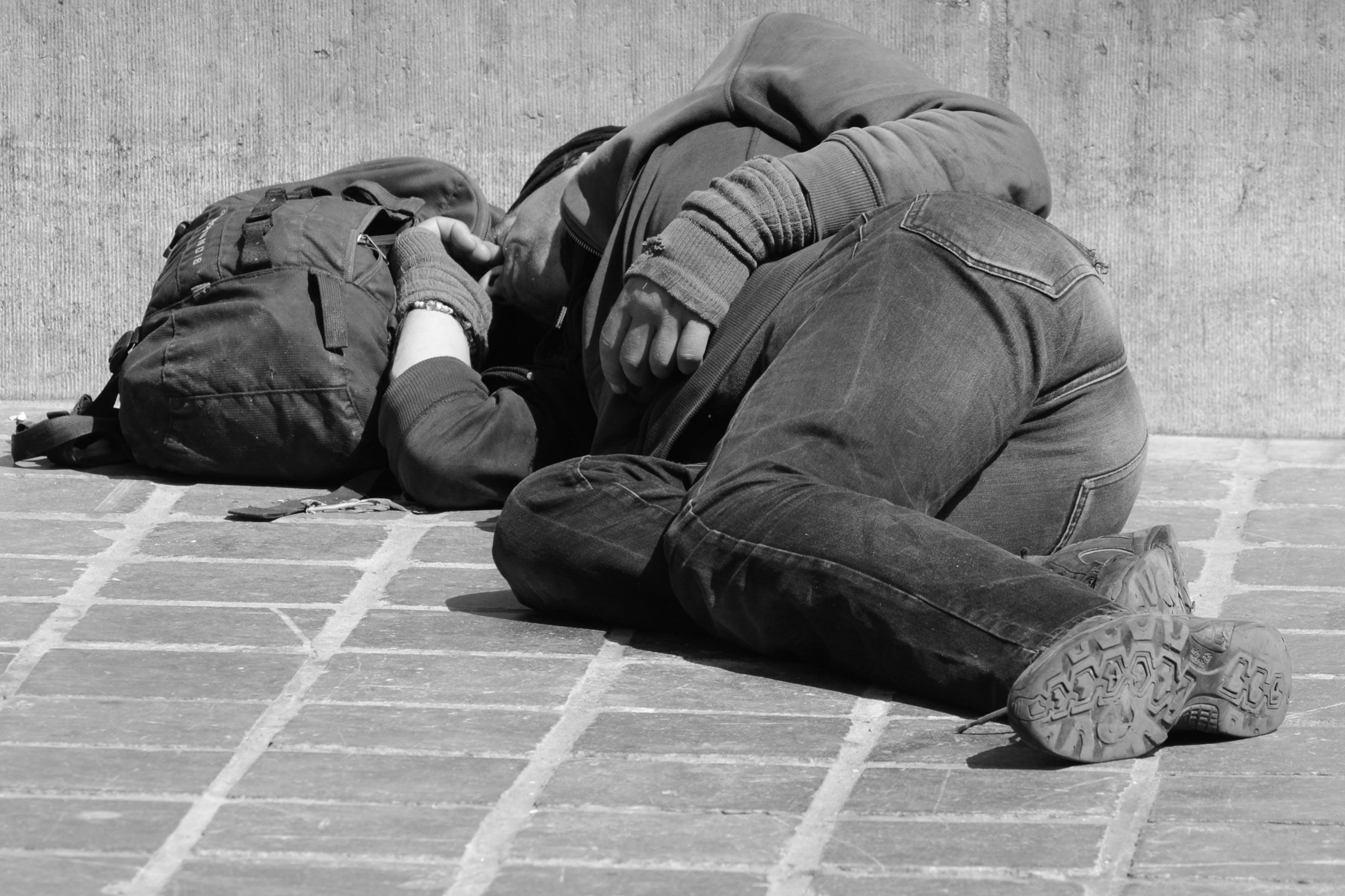 homeless, man, people