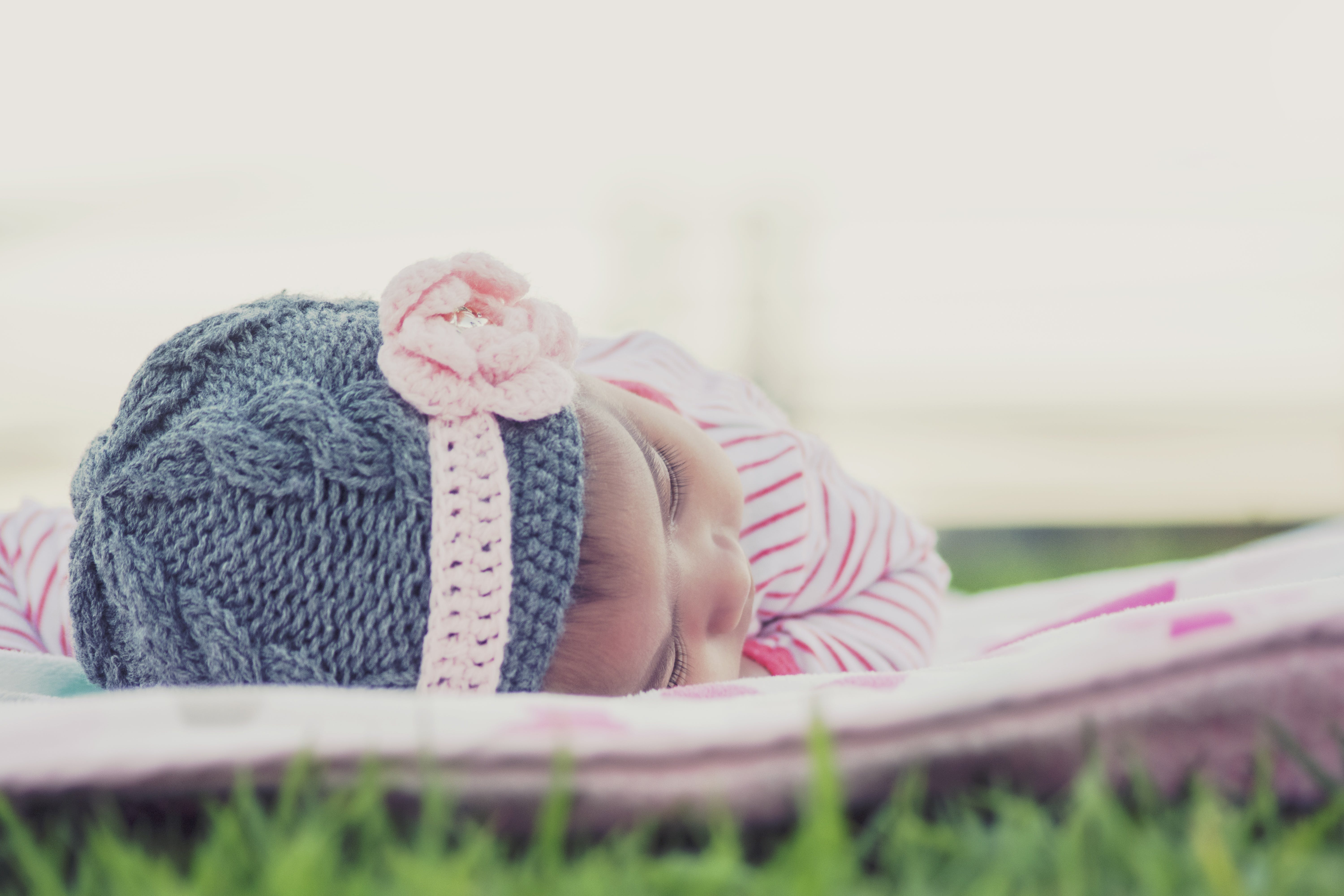 Free stock photo of baby, blanket, gray, lay down