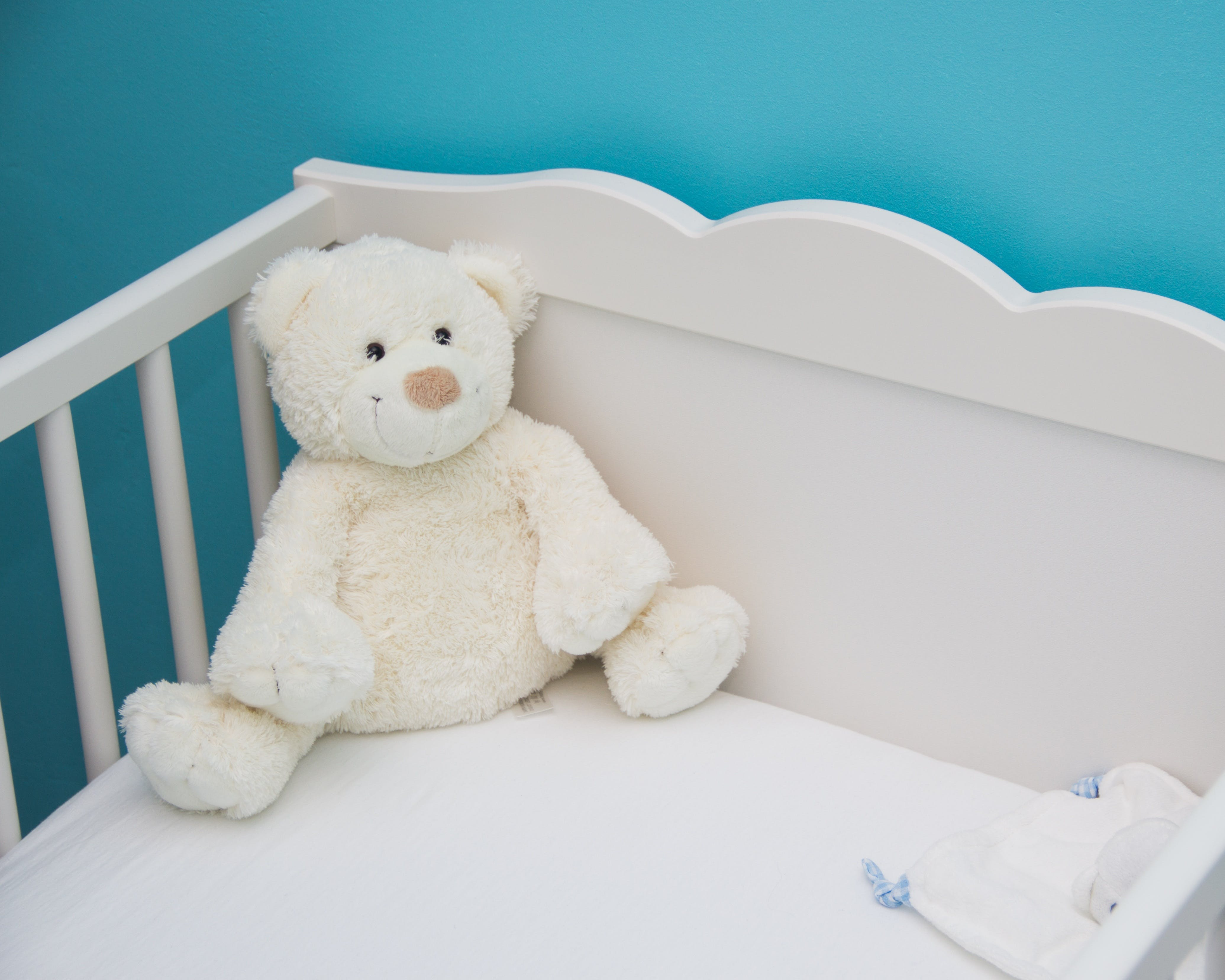 baby, bed, blue