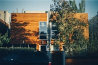 wood, house, modern
