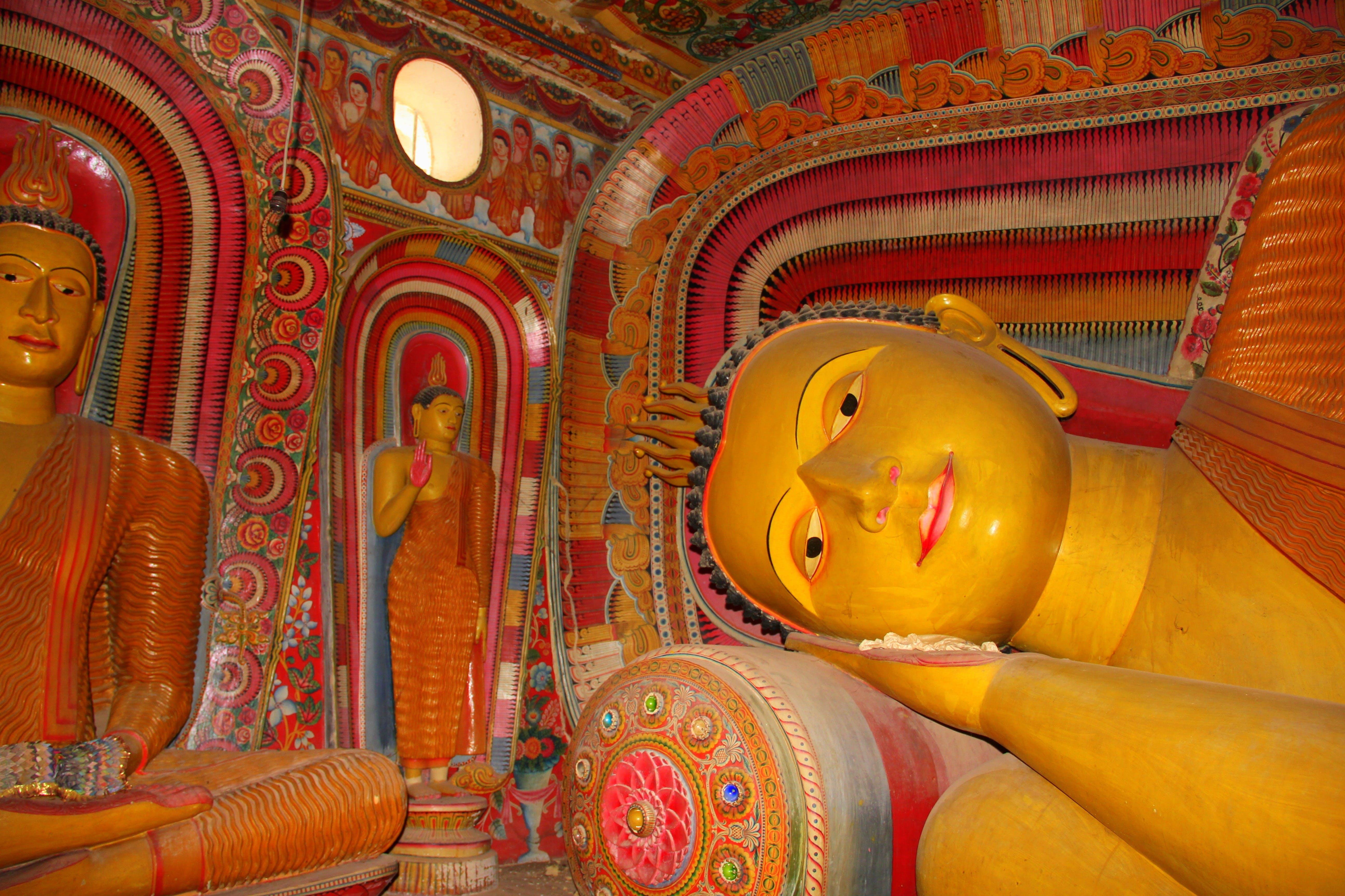 Free stock photo of temple, sri lanka, Sleeping Buddha