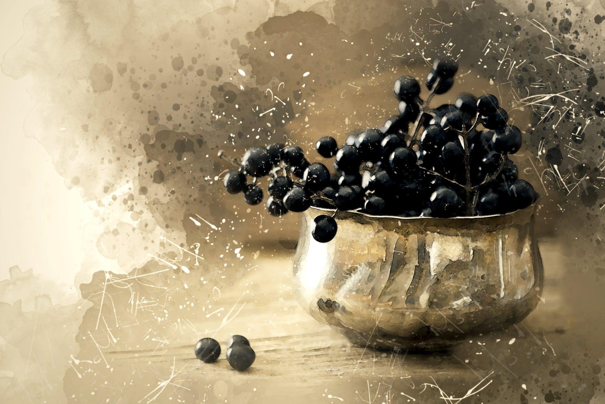 berries, bowl, food
