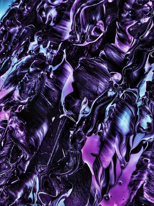Close-up Photo of Purple Abstract Painting