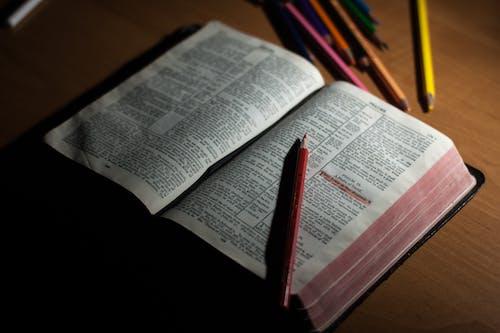 Fotobanka sbezplatnými fotkami na tému Biblia, červená, dokument, drevený