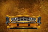 yellow, car, auto