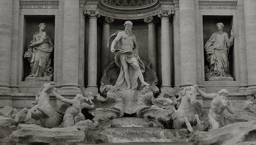 Foto In Scala Di Grigi Di Sculture