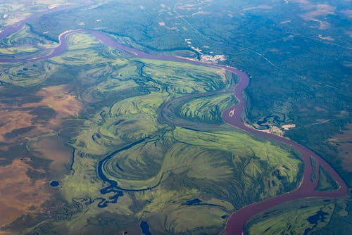 Aerial Photography of Green Land