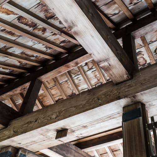 Free stock photo of abstract, architecture, beams, brown