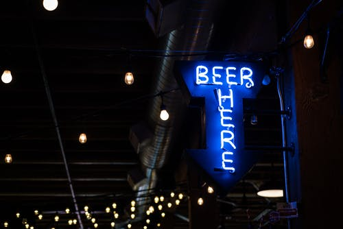 Free stock photo of beer, bokeh, neon, neon sign