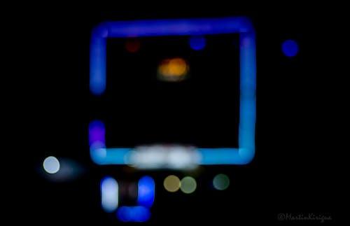 Free stock photo of blue lights, bokeh, green lights