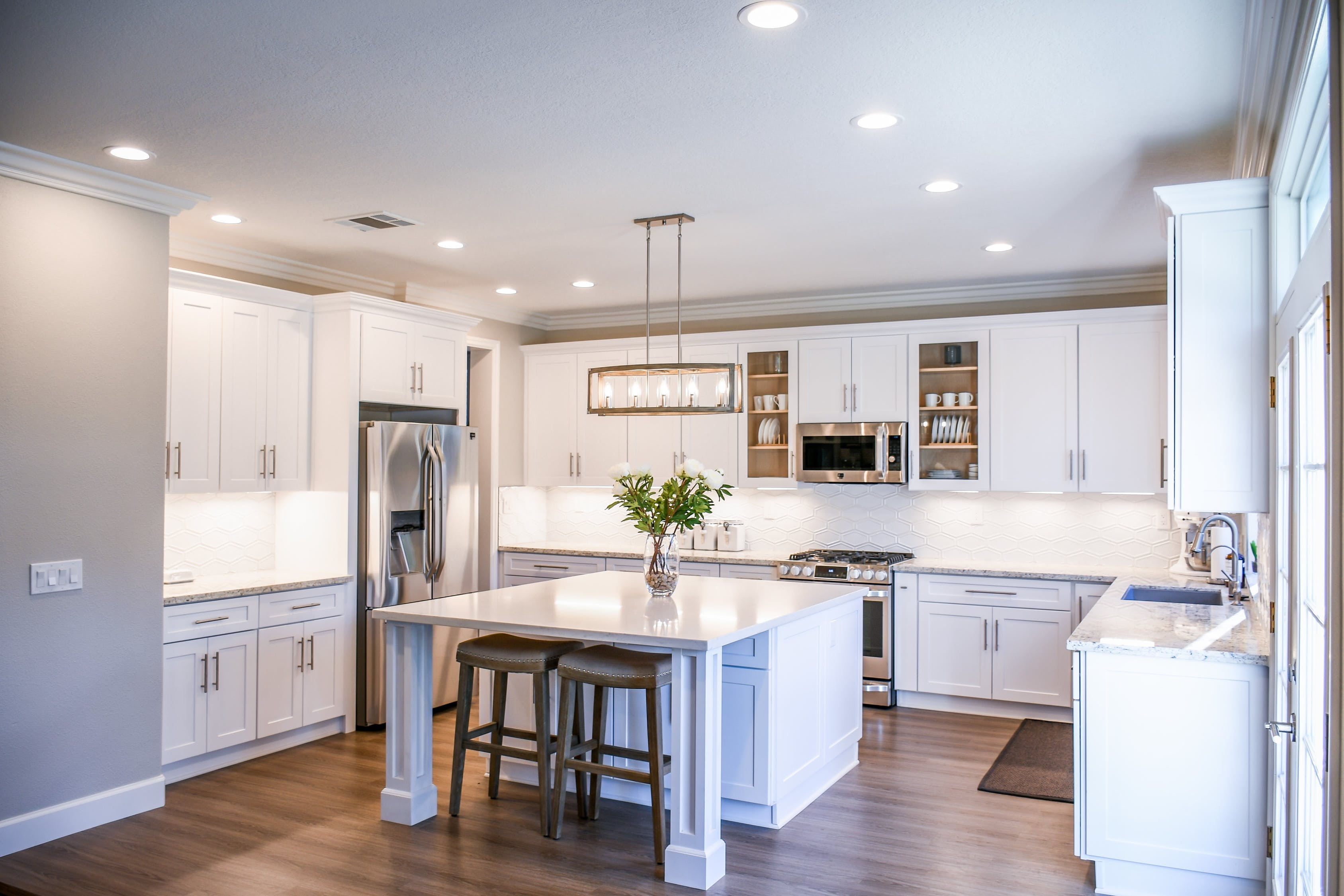 Kitchen With Furniture and Appliances