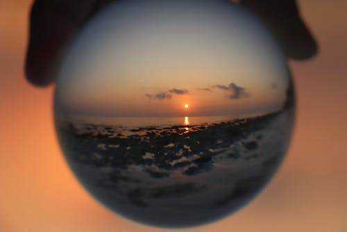 Fotobanka sbezplatnými fotkami na tému Lensball, východ slnka