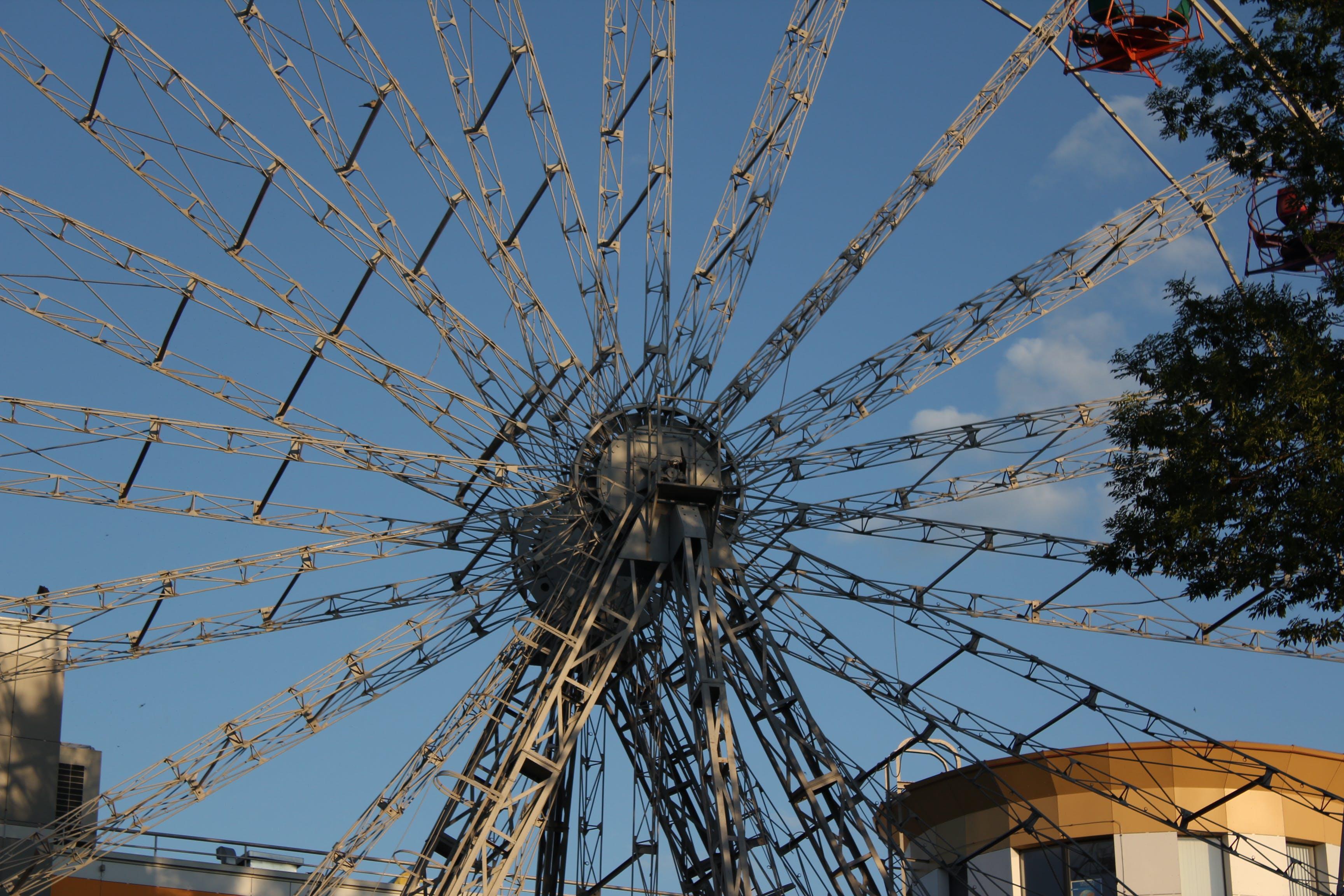 Free stock photo of amusement park, city, ferris wheel, sky