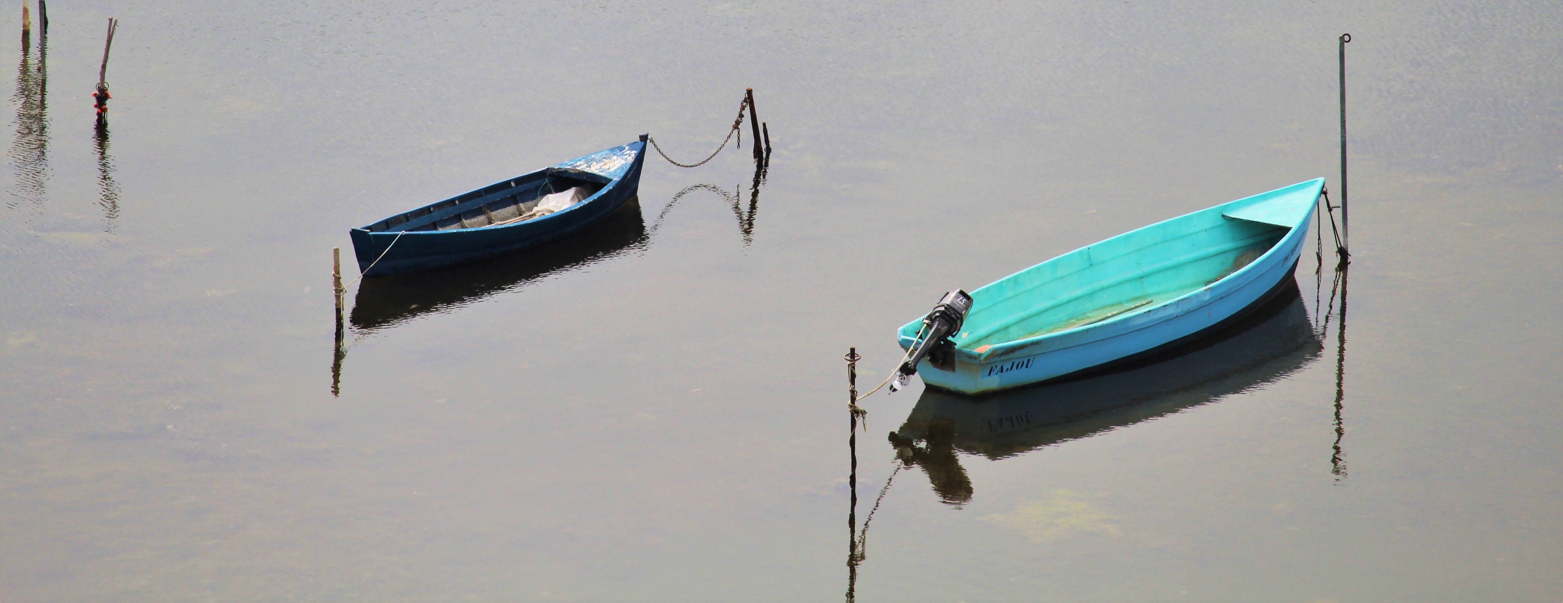 Kostenloses Stock Foto zu angeln, meer, wasser, boote