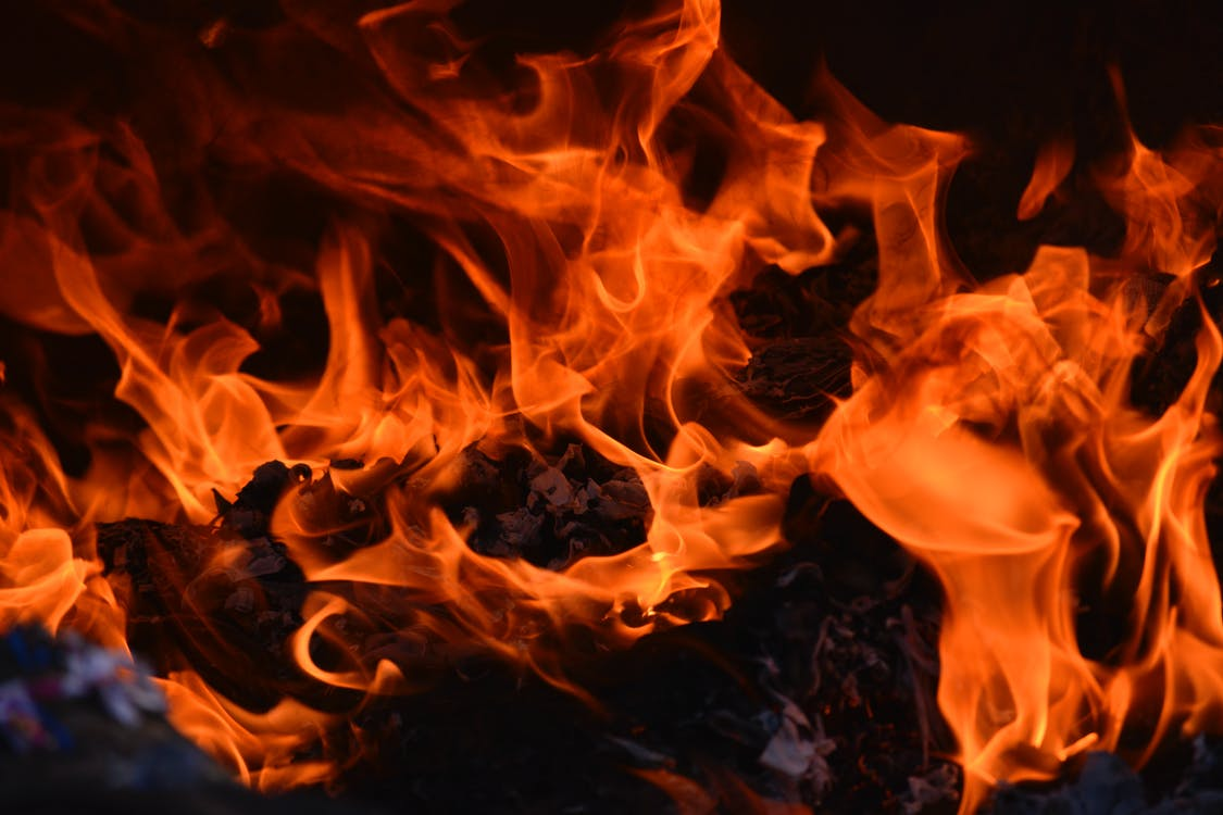 Flames In Close-Up View