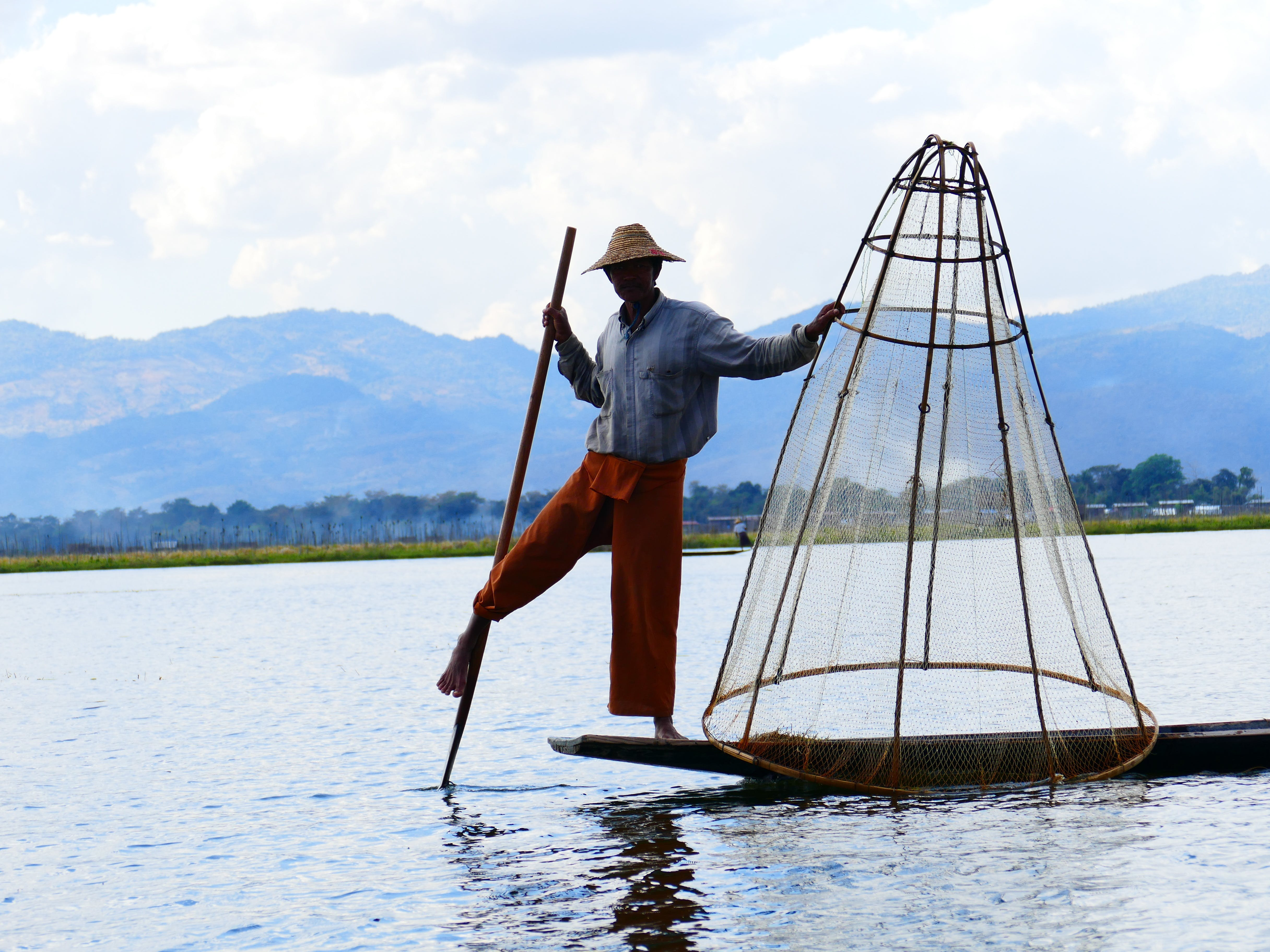 Free stock photo of fish, rowing, myanmar, burma