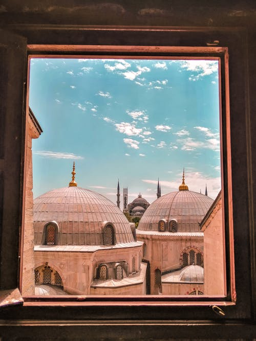 View Of Mosque From A Window