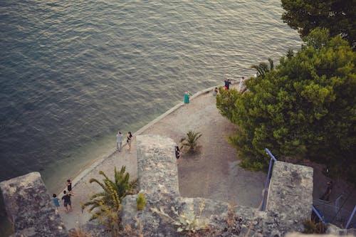 Fotobanka sbezplatnými fotkami na tému Chorvátsko, letecký, ľudia, pokojné vody