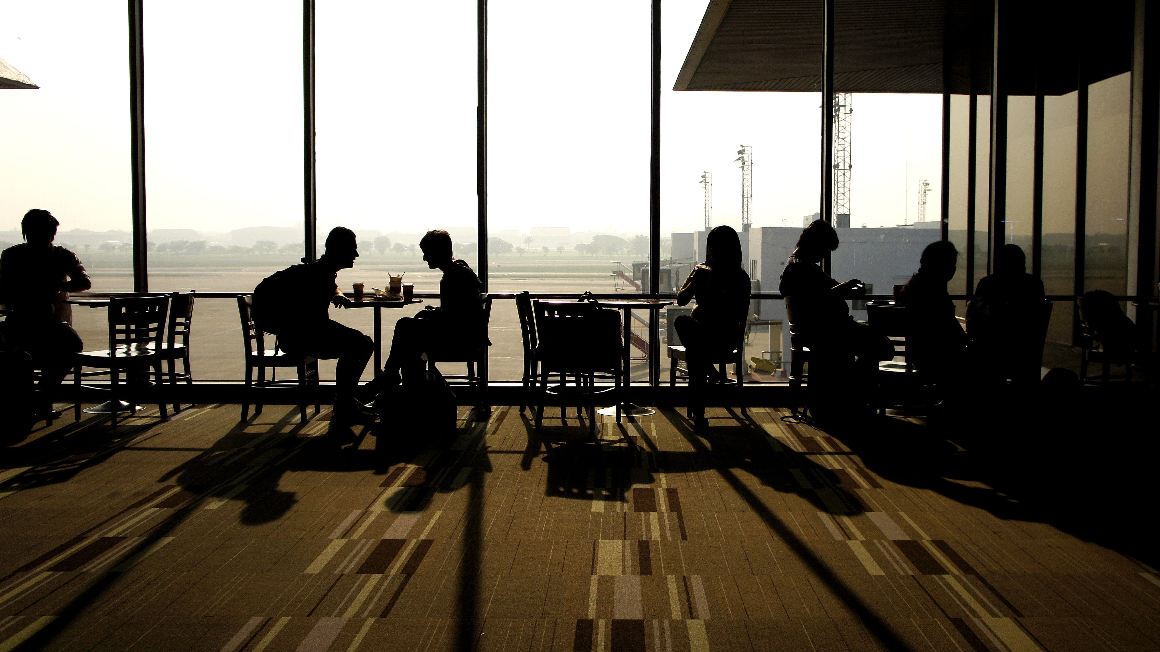 Free stock photo of airport, travel, time, window