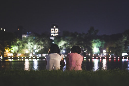 Free stock photo of people, lights, night, water