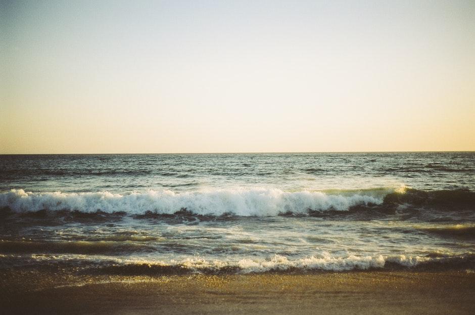 beach, ocean, sea
