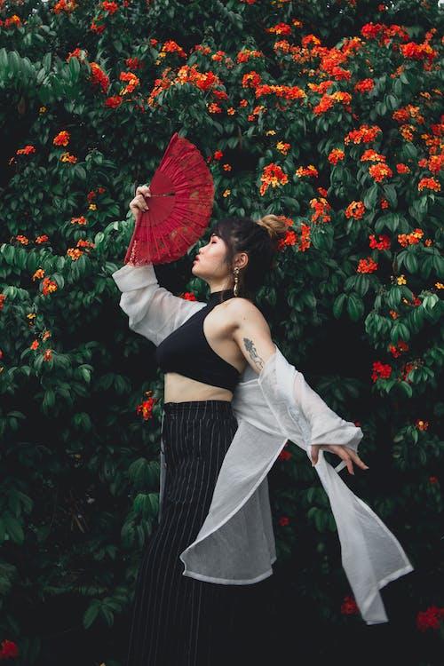 Gratis lagerfoto af asiatisk kvinde, blomster, blomstrende, farve