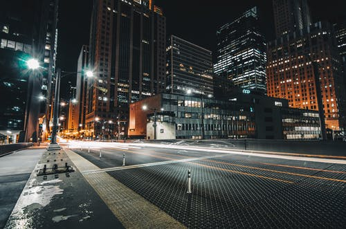 Free stock photo of buildings, chicago, long exposure, night