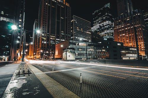 คลังภาพถ่ายฟรี ของ กลางคืน, การถ่ายภาพกลางคืน, การเปิดรับแสงนาน, ชิคาโก