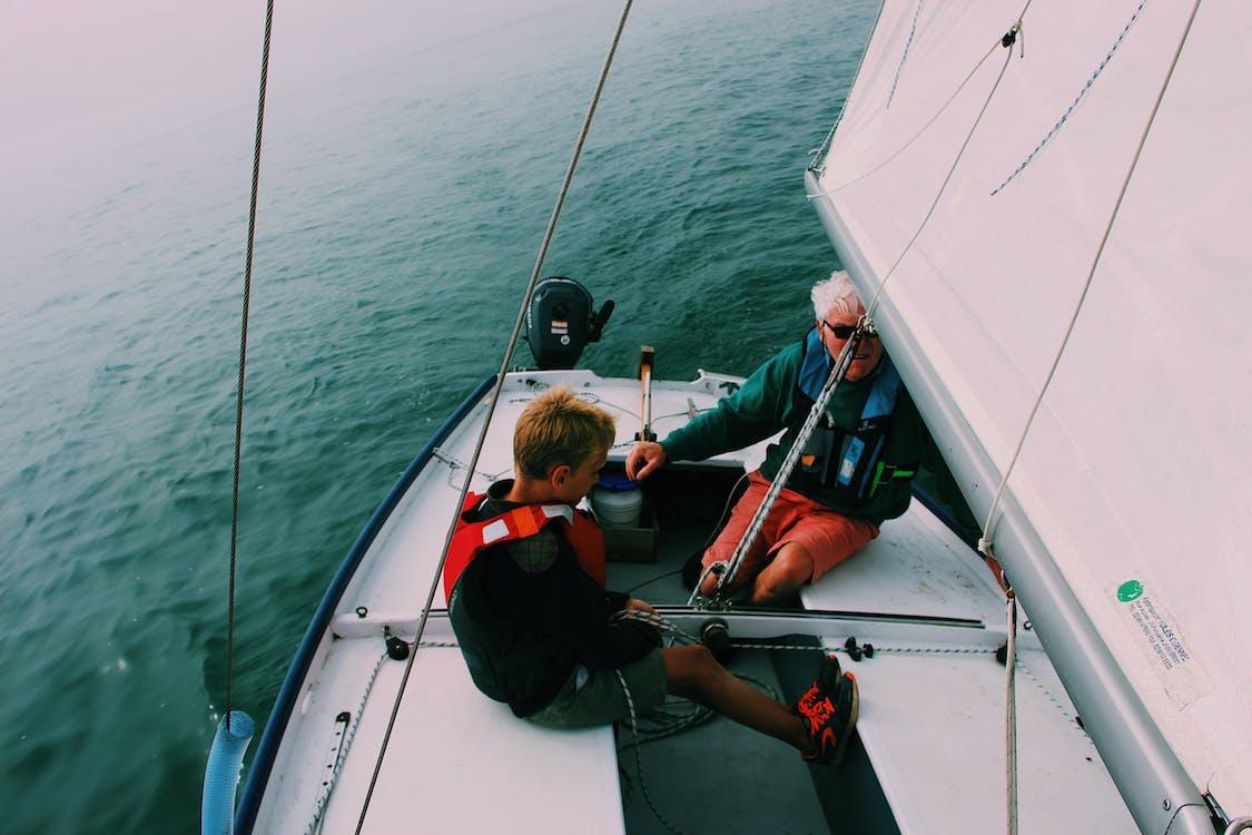 emberek, hajóm csónak, közlekedési rendszer